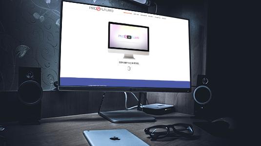 profuturo - miniaturka projektu strony internetowej www